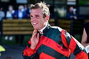 Jockey Craig Grylls, winner of Race 9, Vodafone NZ Derby (G1) 2400.<br /> Vodafone Derby Day at Ellerslie Race Course, Auckland on Sunday 7th March 2021 during lockdown level 2.<br /> Copyright photo: Alan Lee / www.photosport.nz