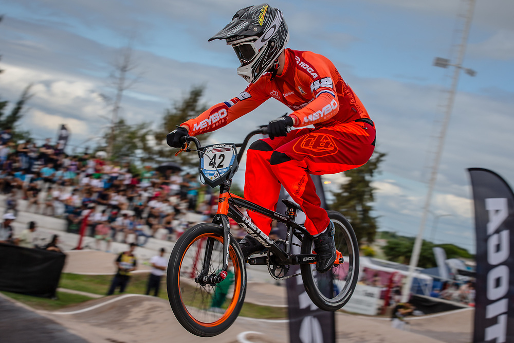 #42 (SCHIPPERS Jay) NED at the 2016 UCI BMX Supercross World Cup in Santiago del Estero, Argentina