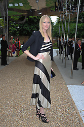 JADE PARFITT at the annual Serpentine Gallery Summer Party sponsored by Canvas TV  the new global arts TV network, held at the Serpentine Gallery, Kensington Gardens, London on 9th July 2009.