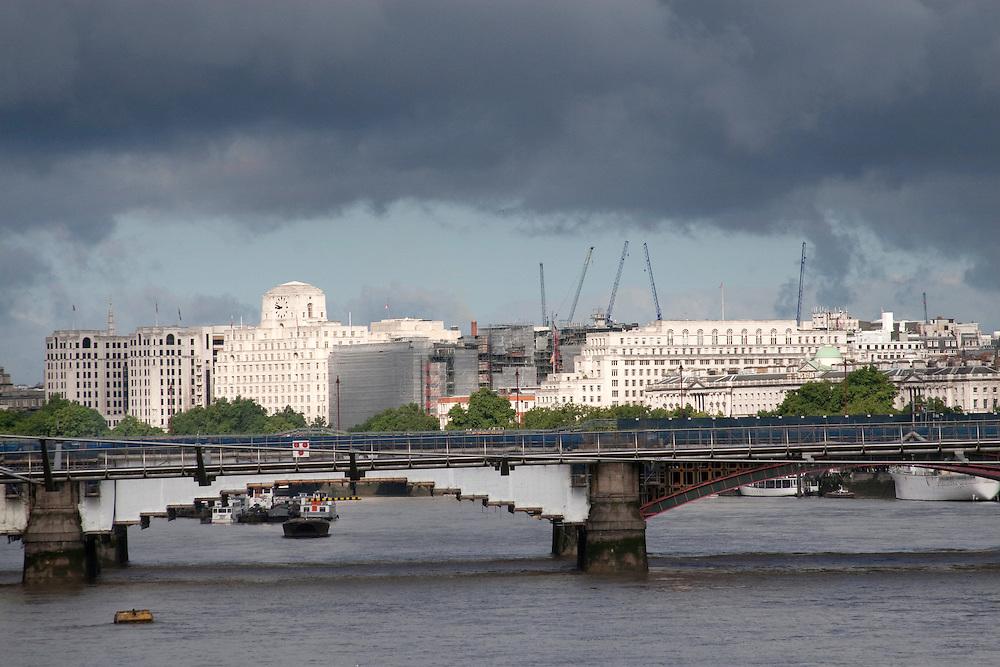 Dramatic London sky