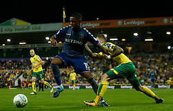 Charlton Athletic's Ezri Konsa and Norwich City's James Maddison battle for the ball
