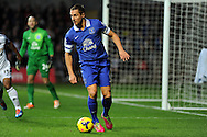 Everton's Phil Jagielka in action. Barclays Premier league, Swansea city v Everton at the Liberty Stadium in Swansea,  South Wales on Sunday 22nd Dec 2013. pic by Andrew Orchard, Andrew Orchard sports photography.