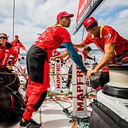 Leg Zero, Plymouth - St. Malo:  on board xx, . Photo by Jen Edney/Volvo Ocean Race. 10August, 2017