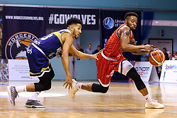 Panos Mayindombe of Bristol Flyers - Mandatory by-line: Robbie Stephenson/JMP - 05/10/2018 - BASKETBALL - University of Worcester Arena - Worcester, England - Bristol Flyers v Worcester Wolves - British Basketball League