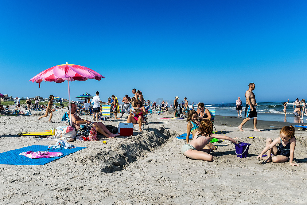 Day at the beach, Ocean City, New Jersey, USA.