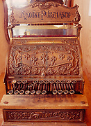 National Cash Register from the Taylor and Drury Ltd. Store, operated from 1919 to 1972 in Keno City, now in the Keno City Mining Museum, Yukon Territory, Canada.