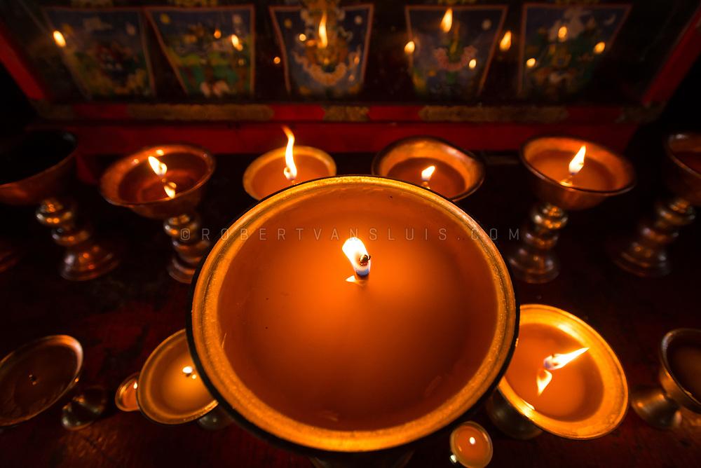 Butterlamps at the Amarbayasgalant Monastery, Mongolia. Photo ©robertvansluis.com