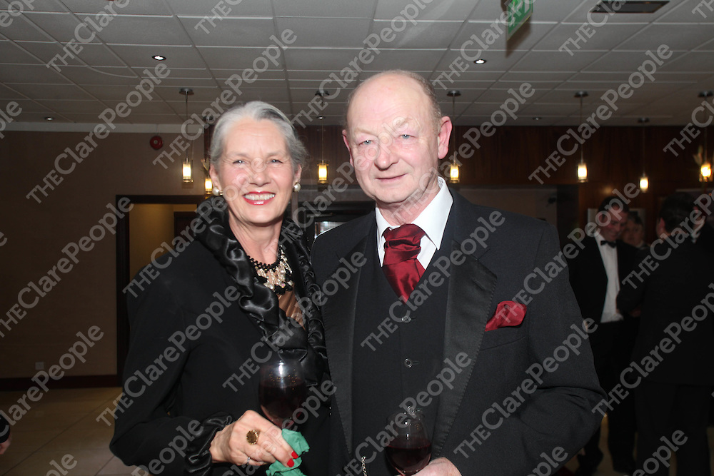 Carmel and Noel Tuohy pictured at the Hunt Ball in the West County Hotel, Ennis on Saturday night.<br /> Pic. Brian Arthur/ Press 22.