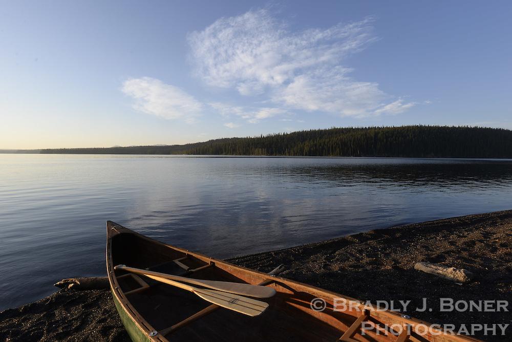 Canoe trip from Lewis Lake to Shoshone Lake, Yellowstone National Park, Wyo.
