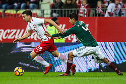 November 13, 2017 - Gdansk, Poland - Jakub Swierczok (POL), Hugo Ayala (MEX) during the International Friendly match between Poland and Mexico at Energa Stadium in Gdansk, Poland on November 13, 2017. (Credit Image: © Foto Olimpik/NurPhoto via ZUMA Press)