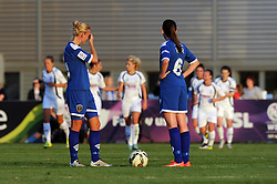 Sophie Ingle of Bristol Academy and Caroline Weir cut dejected figures as they go 0-2 down to Birmingham City Ladies - Mandatory byline: Dougie Allward/JMP - 07966386802 - 05/09/2015 - FOOTBALL - SGS Wise Campus -Bristol,England - Bristol Academy Womens v Birmingham City Ladies - FA Womens Super League