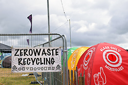 Latitude Festival, Henham Park, Suffolk, UK July 2019. Recycling in the campsite