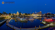 Panoramic of Inner harbor in Victoria, British Columbia, Canada