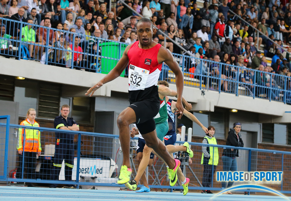 PRETORIA, SOUTH AFRICA - March 17: Luxolo Adams wins the mens 200m final during day 3 of the ASA Senior and Combined Events Track & Field Championships at Tuks Athletics Stadium on March 17, 2018 in Pretoria, South Africa. (Roger Sedres/Image of Sport)