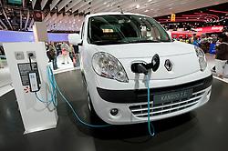 Renault electric plug-in Kangoo car at Paris Motor Show 2010