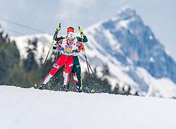 02.03.2019, Seefeld, AUT, FIS Weltmeisterschaften Ski Nordisch, Seefeld 2019, Nordische Kombination, Langlauf, Team Bewerb 4x5 km, im Bild Jan Schmid (NOR) // Jan Schmid of Norway during the Cross Country Team competition 4x5 km of Nordic Combined for the FIS Nordic Ski World Championships 2019. Seefeld, Austria on 2019/03/02. EXPA Pictures © 2019, PhotoCredit: EXPA/ Stefan Adelsberger