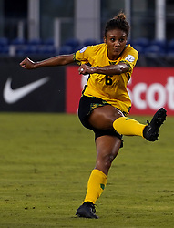 October 12, 2018 - Edinburgh, Scotland, United Kingdom - Edinburg, NC - OCTOBER 11: 2018.Christine Chang of Jamaica .During CONCACAF Women's Championship Group B match between Cuba against Jamaica at H-E-BPark Stadium, Edinburg,  on October 11, 2018  (Credit Image: © Action Foto Sport/NurPhoto via ZUMA Press)