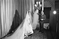 Royal wedding of Princess Françoise de Bourbon Parma and Prince Edouard Lobkovicz January 1960 in the Cathedral of Notre Dame in Paris.<br /> <br /> <br /> Mariage royal de la princesse Françoise de Bourbon Parme et le prince Edouard Lobkovicz Janvier 1960 à la cathédrale de Notre -Dame de Paris .