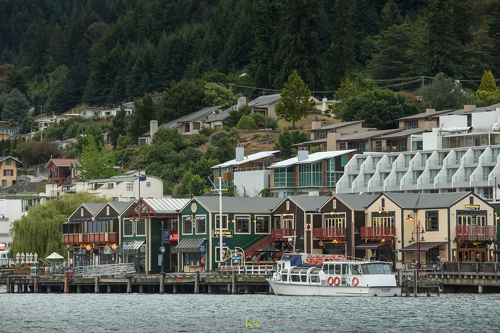 Buildings by water in Queenstown, New Zealand