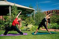 Yoga fitness instruction & Gazebo at Red Mountain Resort, Ivins, Utah's Dixie, near St. George, UTAH