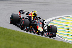 November 10, 2018 - Sao Paulo, Sao Paulo, Brazil - Nov, 2018 - MAX VERSTAPPEN of Red Bull Racing, fifth position in the training. Third free practice for the Brazilian Grand Prix of Formula 1, at the Interlagos race track in Sao Paulo. Sao Paulo, Brazil, November 10, 2018. (Credit Image: © Marcelo Chello/ZUMA Wire)