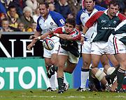 Leicester, England UK., 9th October 2004,  Zurich Premiership Rugby, Leicester Tigers vs Bath Rugby, Welford Road,<br /> [Mandatory Credit: Peter Spurrier/Intersport Images],<br /> Tigers's Harry Ellis.