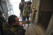 CHENGDU, CHINA - FEBRUARY 02: (CHINA OUT) <br /> <br /> Veterinarians prepare to anesthetize the leopard at Chengdu Zoo on February 2, 2016 in Chengdu, Sichuan Province of China. 9 leopards and panthers moved to new rooms to welcome the New Year at Chengdu Zoo. <br /> ©Exclusivepix Media