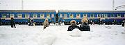 Trans Siberian Railway in winter, Siberia, Russia
