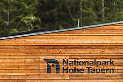 THEMENBILD - der Schriftzug und das Logo Nationalpark Hohe Tauern im Wildpark Ferleiten, aufgenommen am 29. April 2018 in Taxenbacher-Fusch, Österreich // the lettering and the logo Hohe Tauern National Park at the Wildlife Park, Taxenbacher-Fusch, Austria on 2018/04/29. EXPA Pictures © 2018, PhotoCredit: EXPA/ JFK
