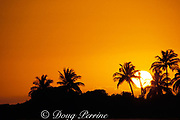 sunset at Walker's Cay, <br /> Abaco Islands,<br /> Northern Bahamas ( Western Atlantic Ocean )