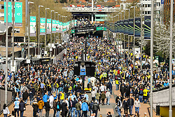 Wembley way begin to fill up with arriving fans - Photo mandatory by-line: Jason Brown/JMP -  02/04//2017 - SPORT - Football - London - Wembley Stadium - Coventry City v Oxford United - Checkatrade Trophy Final