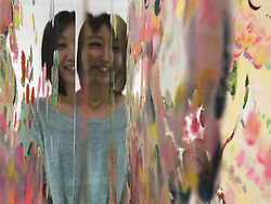 May 23, 2017 - Tokyo, Japan - Artist Ayako Rokkaku poses for a photo in Tokyo during her exhibition. May 23, 2017. Photo by: Ramiro Agustin Vargas Tabares (Credit Image: © Ramiro Agustin Vargas Tabares via ZUMA Wire)