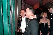 A.A.GILL; DAVID FURNISH, Evgeny Lebedev and Graydon Carter hosted the Raisa Gorbachev charity Foundation Gala, Stud House, Hampton Court, London. 22 September 2011. <br /> <br />  , -DO NOT ARCHIVE-© Copyright Photograph by Dafydd Jones. 248 Clapham Rd. London SW9 0PZ. Tel 0207 820 0771. www.dafjones.com.
