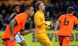 19-11-2013 VOETBAL: NEDERLAND - COLOMBIA: AMSTERDAM<br /> Nederland speelt met 0-0 gelijk tegen Colombia / Jasper Cillessen<br /> ©2013-FotoHoogendoorn.nl