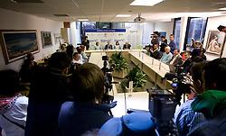 Sonja Roman, Boris Mikuz, Marija Sestak and Martin Steiner at welcome press conference after European Athletics Indoor Championships Torino 2009, AZS, Ljubljana, Slovenia, on March 9, 2009. (Photo by Vid Ponikvar / Sportida)