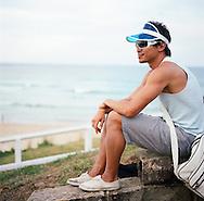 Local man enjoying Bondi Beach, Sydney, NSW, Australia