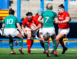 Siwan Lillicrap of Wales on the charge<br /> <br /> Photographer Simon King/Replay Images<br /> <br /> Six Nations Round 5 - Wales Women v Ireland Women- Sunday 17th March 2019 - Cardiff Arms Park - Cardiff<br /> <br /> World Copyright © Replay Images . All rights reserved. info@replayimages.co.uk - http://replayimages.co.uk