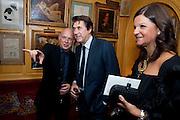BRIAN ENO; BRYAN FERRY;  ANTONELLA DI SIMONE, BRIONI FRAGRANCE LAUNCH. Annabels. Berkeley Sq. London. 14 October 2009.