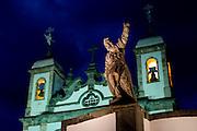 Congonhas_MG, Brasil.<br /> <br /> Santuario de Bom Jesus do Matozinhos, com esculturas do mestre Aleijadinho (Antonio Francisco Lisboa).<br /> <br /> The sanctuary of Bom Jesus do Matozinhos with sculptures of the master Aleijadinho (Antonio Francisco Lisboa).<br /> <br /> Foto: MARCUS DESIMONI / NITRO
