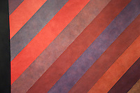 Washington DC, National Gallery. Modern painting with diagonal, colored, stripes