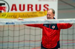 Coach Erik Gras of Taurus in action during the quarter cupfinal between Taurus vs. Sliedrecht Sport on April 02, 2021 in sports hall De Kruisboog, Houten