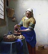 Johannes Vermeer (1632-1674) Dutch painter,  The Milkmaid
