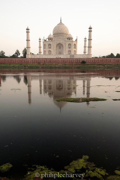 The Taj Mahal, a UNESCO World Heritage Site, at Agra, India