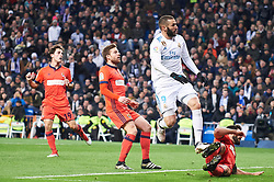 Real Madrid and Real Sociedad at Santiago Bernabeu on February 10, 2018 in Madrid, Spain. 10 Feb 2018 Pictured: Karim Benzema (forward; Real Madrid). Photo credit: MEGA TheMegaAgency.com +1 888 505 6342