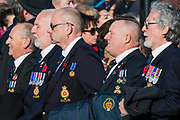 Veterans, incl members of the Association of  Royal Yachtsmen,  march past the Cenothaph and down Whitehall - Remembrance Sunday and Armistice Day commemorations fall on the same day, remembering the fallen of all conflicts but particularly the centenary of the end of World War One.