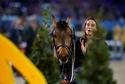 Wauters wendy, BEL, Calimero<br /> WC Pony - Cavalor<br /> Vlaanderens Kerstjumping Memorial Eric Wauters<br /> © Dirk Caremans<br /> 27/12/2016