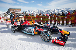 14.01.2016, Hahnenkamm, Kitzbühel, AUT, FIA, Formel 1, Projekt Spielberg Showrun, im Bild Showrun mit Max Verstappen (NED) Red Bull Racing RB7 // Max Verstappen of Netherlands on Red Bull Racing RB7 in action during the Project Spielberg Showrun at Hahnenkamm in Kitzbuehel, Austria on 2016/01/14. EXPA Pictures © 2016, PhotoCredit: EXPA/ Johann Groder<br /> <br /> ***** ACHTUNG BILD WURDE MIT DIGITALEN FILTERTECHNIKEN VERAENDERT / NOTE, THE PICTURE HAS CHANGED WITH DIGITAL FILTERING *****