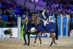Poels Zara, BEL, Calimero, Wauters Wendy<br /> WC Pony - Cavalor<br /> Vlaanderens Kerstjumping Memorial Eric Wauters<br /> © Dirk Caremans<br /> 27/12/2016