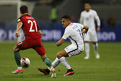 June 28, 2017 - Kazan, Russia - Alexis Sanchez (C) of Chile national team during FIFA Confederations Cup Russia 2017 semi-final match between Portugal and Chile at Kazan Arena in June 28, 2017 in Kazan, Russia. (Credit Image: © Mike Kireev/NurPhoto via ZUMA Press)