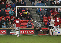 Photo: Mark Stephenson.<br />Walsall v Barnet. Coca Cola League 2. 24/02/2007. Walsall's Kevin Harper finds the back of the net